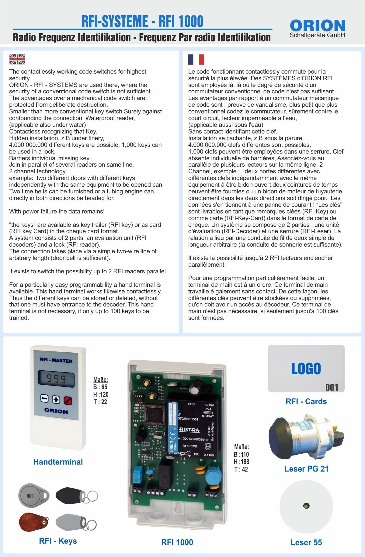 RFI Systeme- 000 Glas