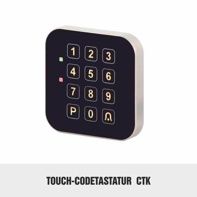 Touch-codetaster glas codetastatur codeschloss
